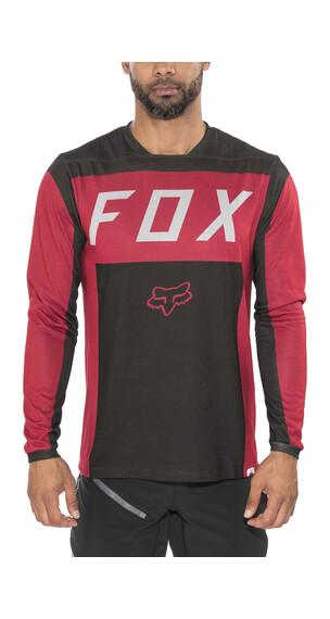Fox Indicator Moth Koszulka kolarska Mężczyźni czerwony/czarny